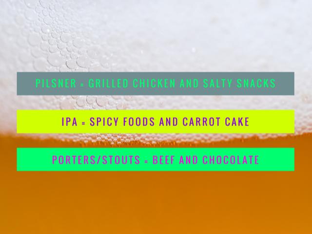 food, IPA, Porter, Stout, Pilsner