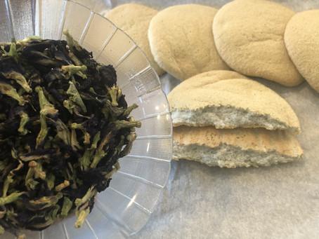 Butterfly Pea Tea Cloud Bread