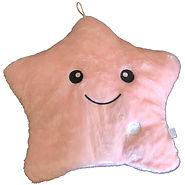 Passion Pink Star Pillow with White Back