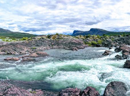 from  Stora Sjöfallets nature park to Kiruna and to Björkliden