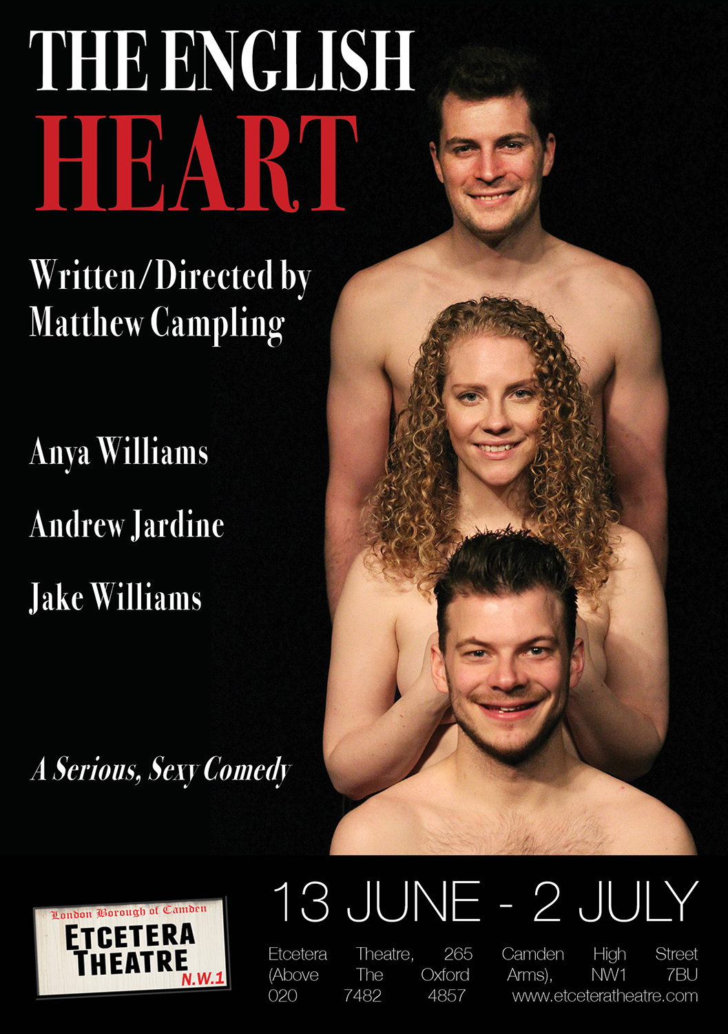 the english heart A5 flyer final front
