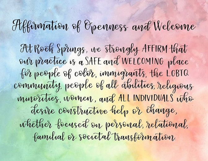 Social justice and counseling at Rock Springs