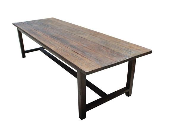 1stDIBS - Vintage Fir Farm Table Custom