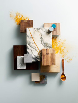 Concept board of Colors and Materials