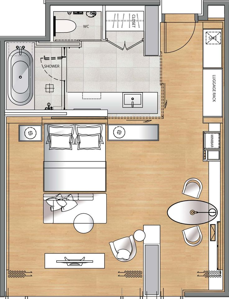 2D Layout of a room