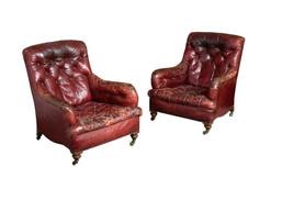 1stDIBS - Victorian Library chairs circa