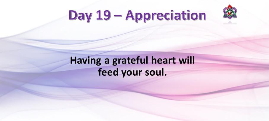 Day 19 - Appreciation