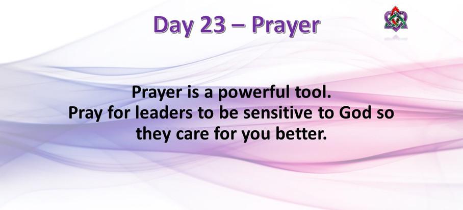 Day 23 - Prayer