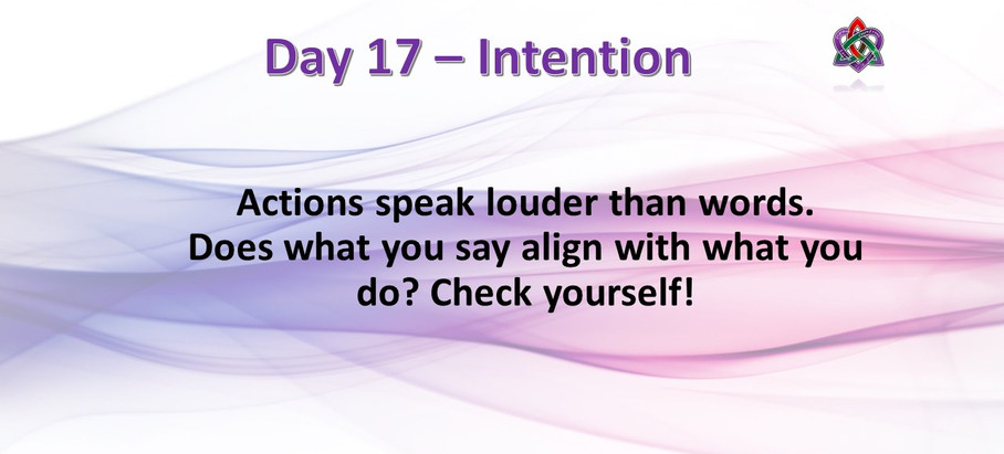 Day 17 - Intentions