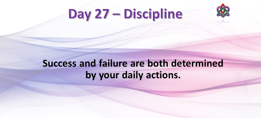 Day 27 - Discipline
