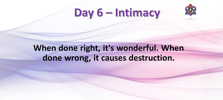 Day 6 - Intimacy