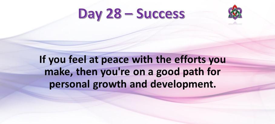 Day 28 - Success
