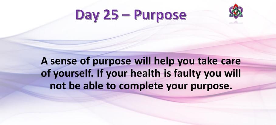 Day 25 - Purpose