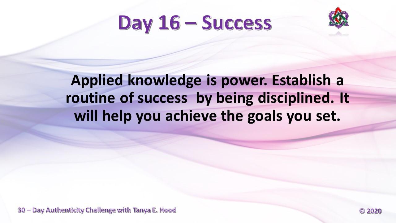Day 16 - Success