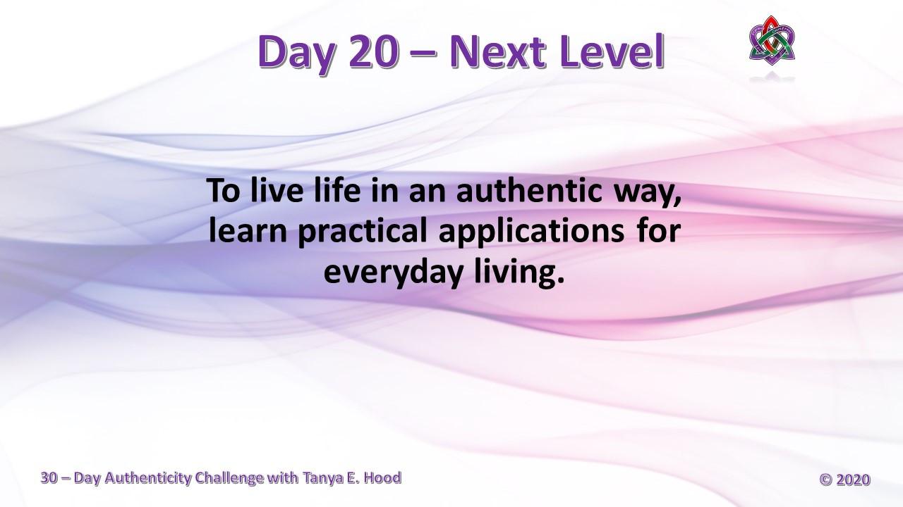Day 20 - Next Level