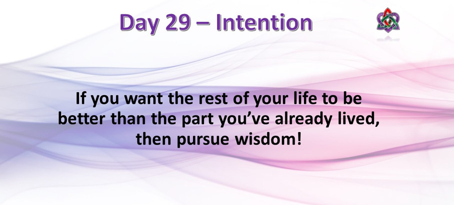 Day 29 - Intentions