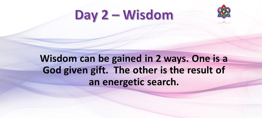 Day 2 - Wisdom