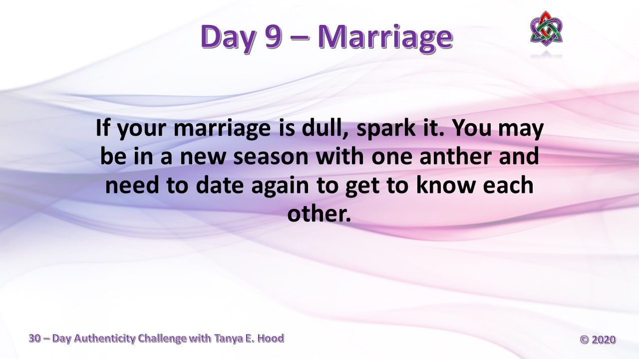 Day 9 - Marriage