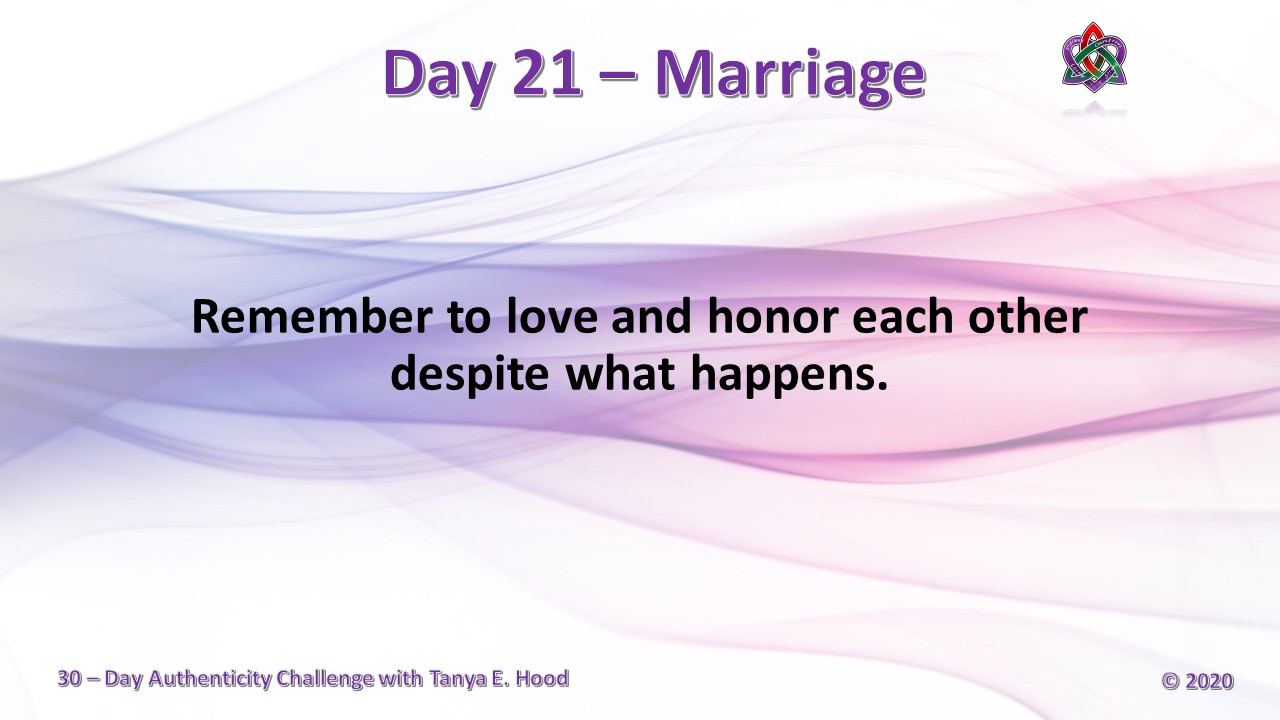 Day 21 - Marriage