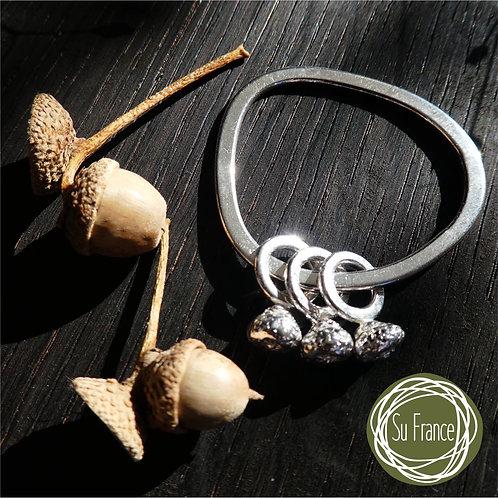 Three Small Acorns Pendant