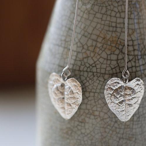 String of Hearts Half-Loop Earrings
