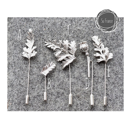 Stunning Silver Fern Pins