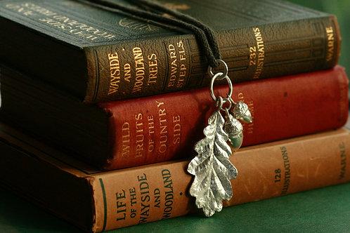 Acorns and Oak Leaf Pendant