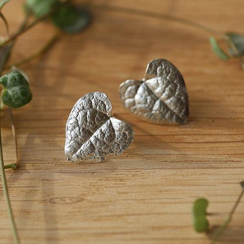 String of Hearts Stud Earrings