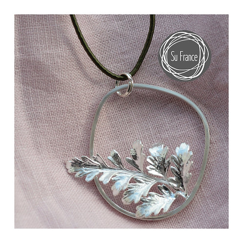 Fern Leaf Pebble Pendant