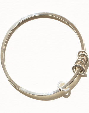 Six Pebble Round Bangle
