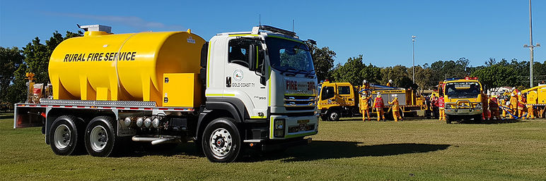 Allquip fire tanker at RFSQ training day 2020