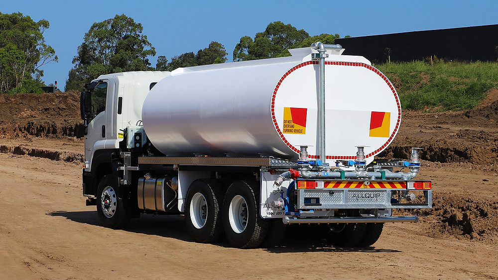 Marine grade aluminium water truck with white paint finish