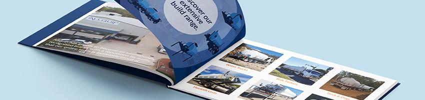 Allquip corporate profile catalogue mockup