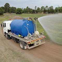 Allquip Water Trucks: water truck with cannon product example