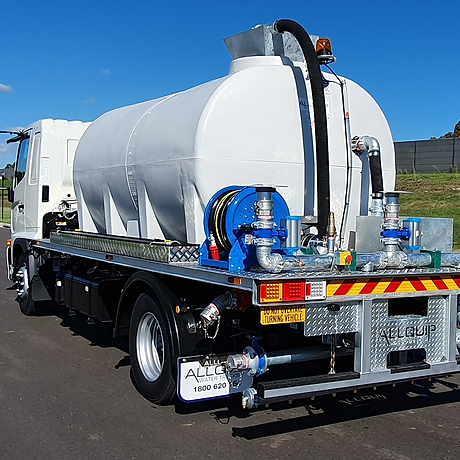 Allquip stock trucks: water trucks pre-built and ready for delivery