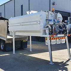 Allquip Water Trucks: tipper truck slide-in water tank product example