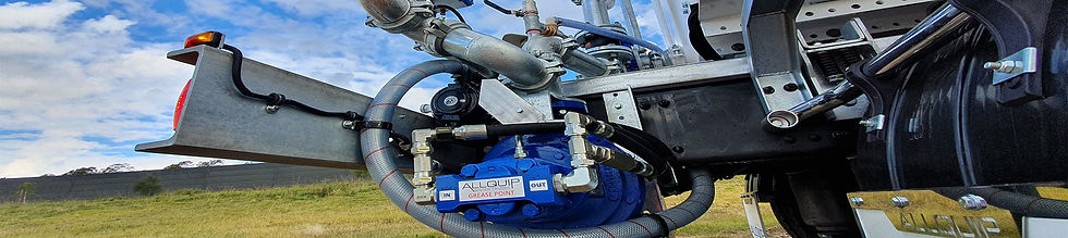 Hydraulic driven Southern Cross water pump mounted on Allquip water truck