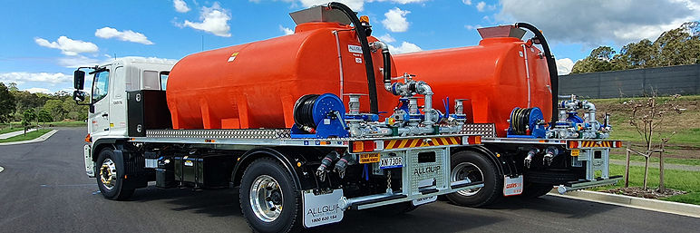 Two hire ready orange water carts built for Coates Hire