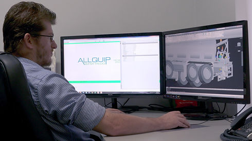 3D product design used by Allquip Water Trucks