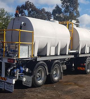 Case study: tandem axle bulk water tanker