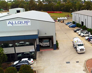 Allquip Water Trucks assembly warehouse in NSW