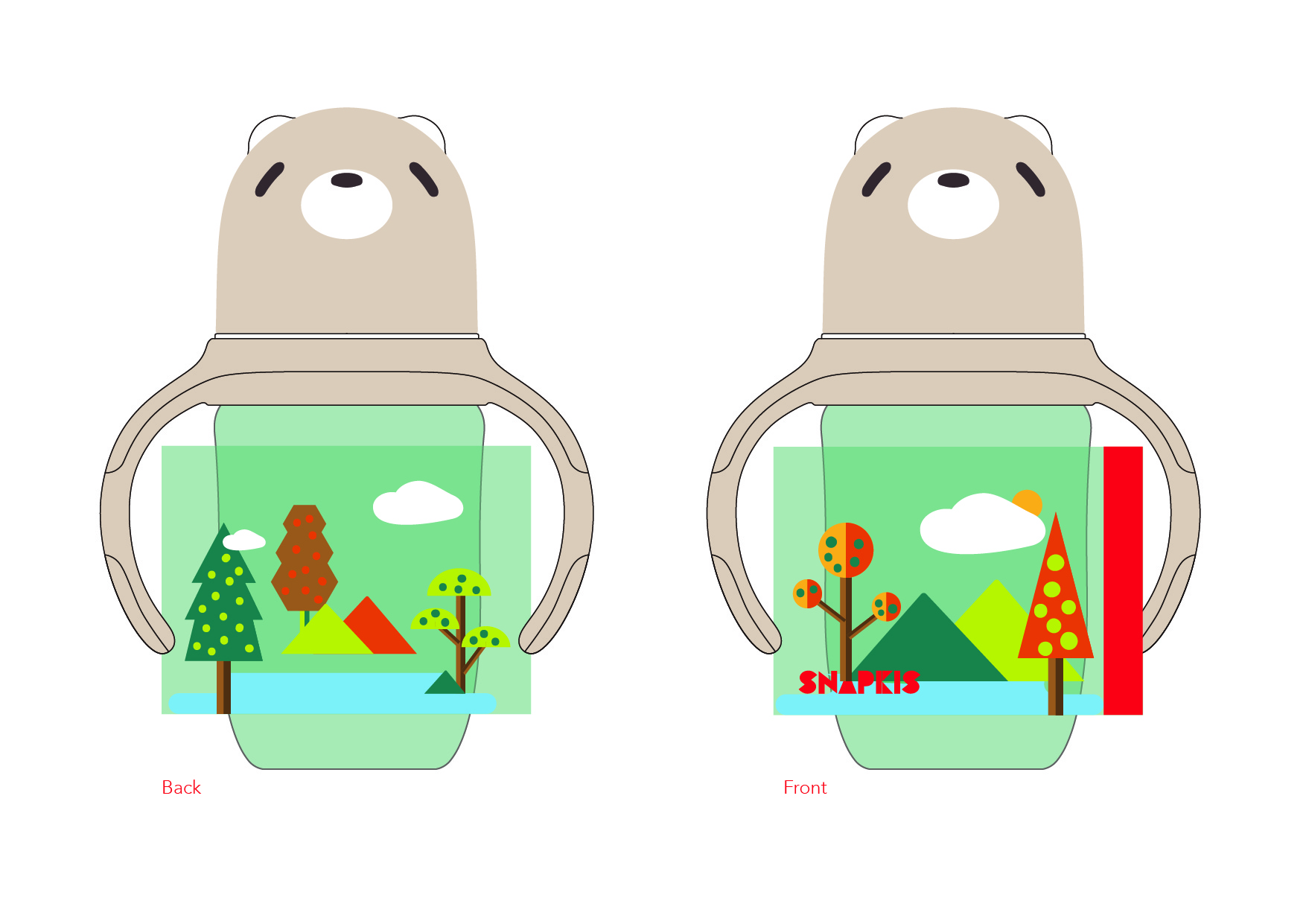 Milk bottle design-Forest