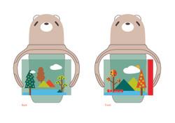 Milk bottle design-Forest