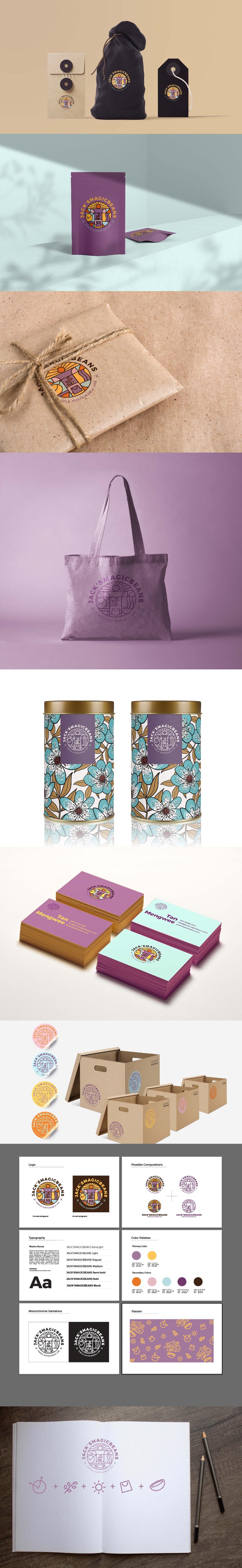 Branding design for Jack's Magic Beans