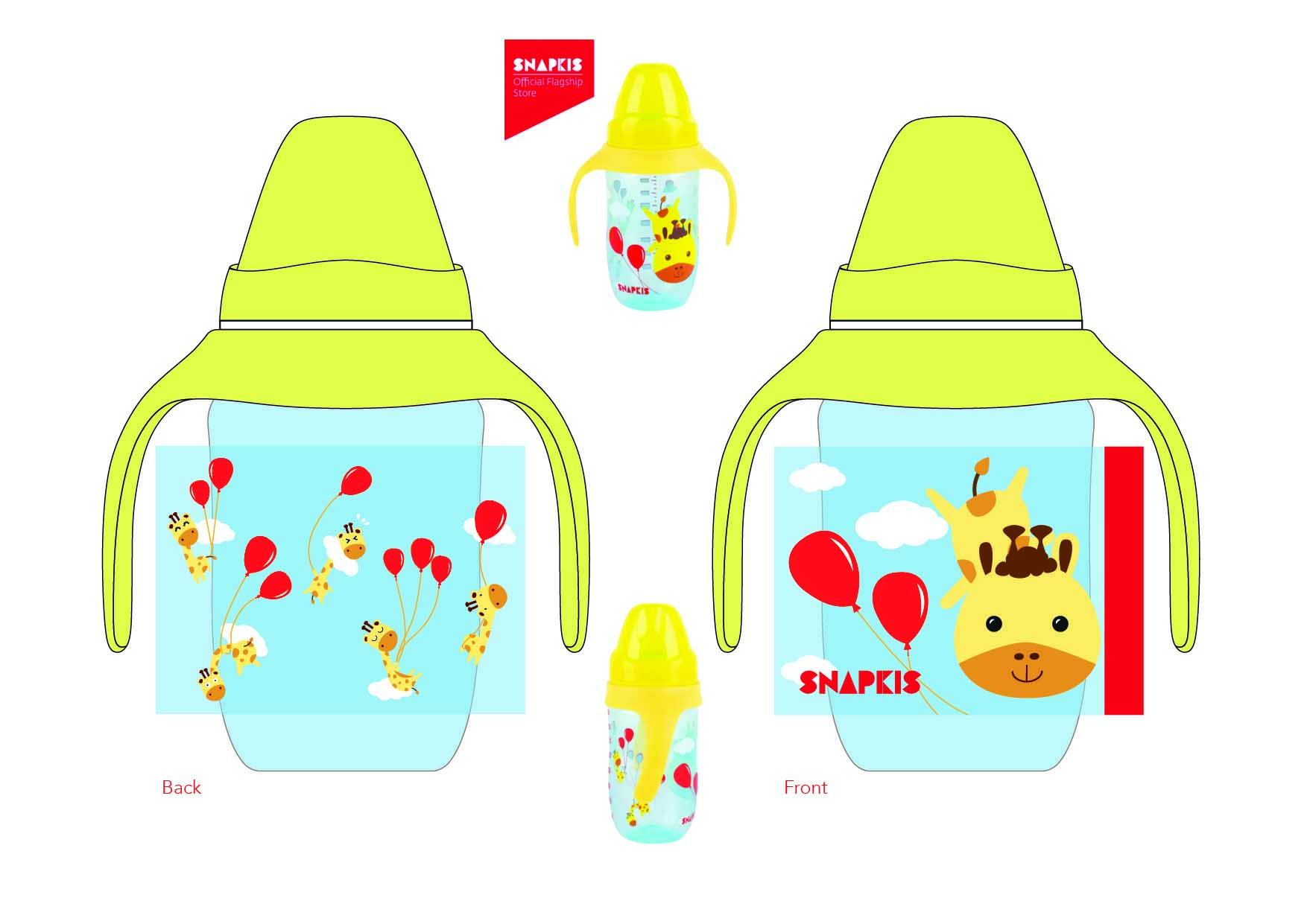 Milk bottle design-Giraffes