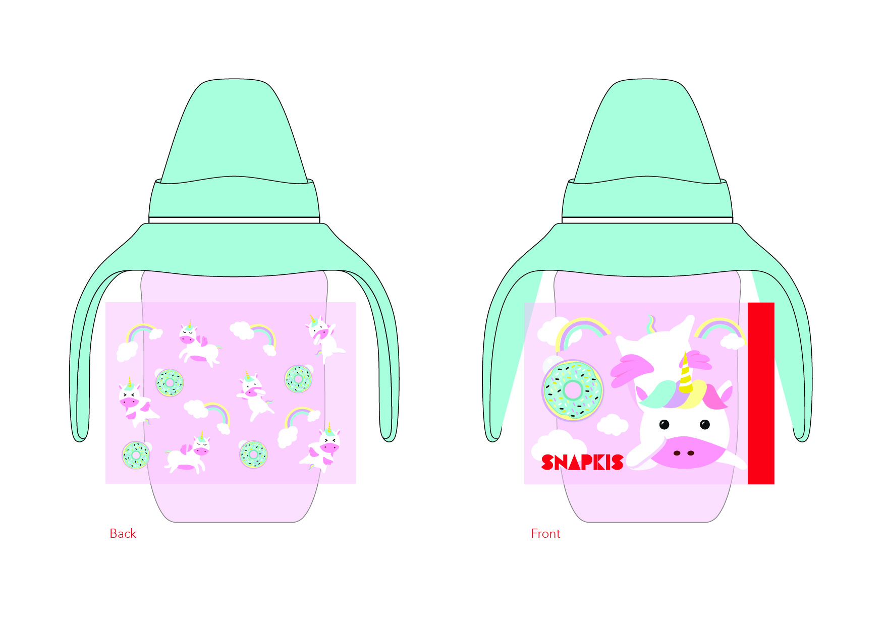 Milk bottle design-Unicorn