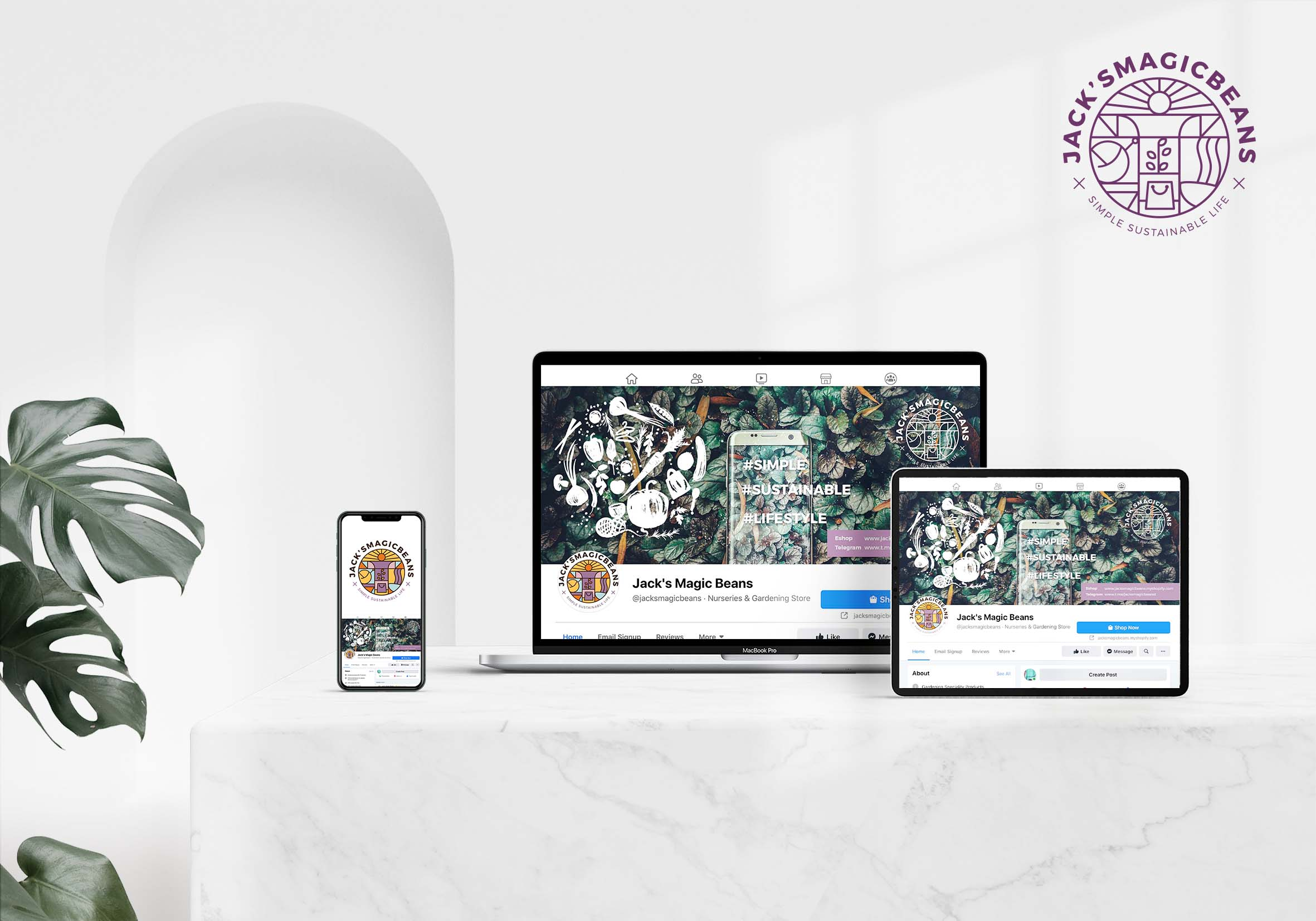 Facebook cover page (branding design)