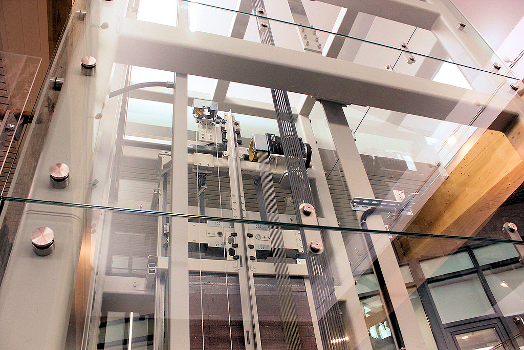 mrl full glass elevator