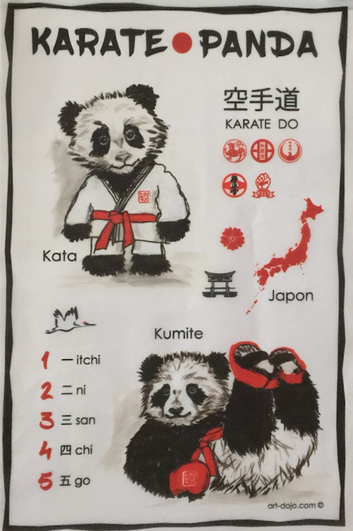 Karate Panda Kakemono