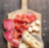 火腿,香腸和奶酪板